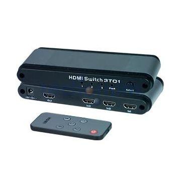NTI SE-HD-3-LC HDMI 3 Port Switch 3x1 HDMI Switcher