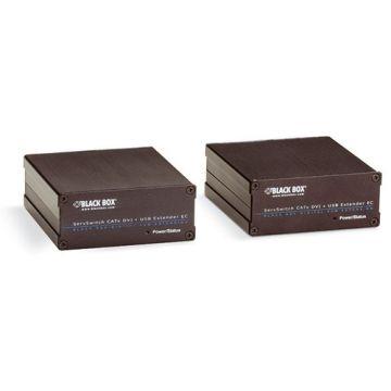 Black Box ACX310FIA ServSwitch Fiber DVI-D + USB Extenders, DVI, VGA, And Audio