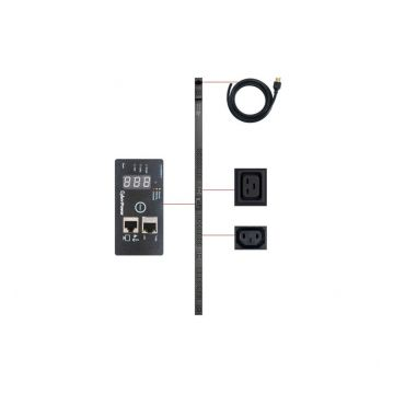 Cyber Power PDU30SWVHVT24FNET 16-Outlet 0U Rack Mount Switched Pdu