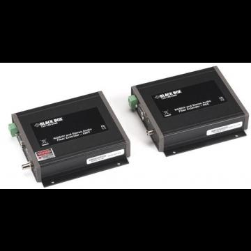 Black Box VGA/Stereo-Audio Fiber Extender Kit (AC1021A-XMIT And AC1021A-REC)